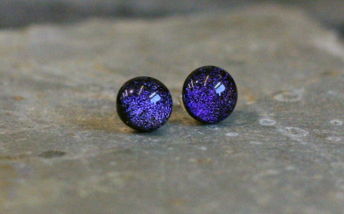 Dichroic Glass Earrings – Amy Louise Buttress | Amy Louise