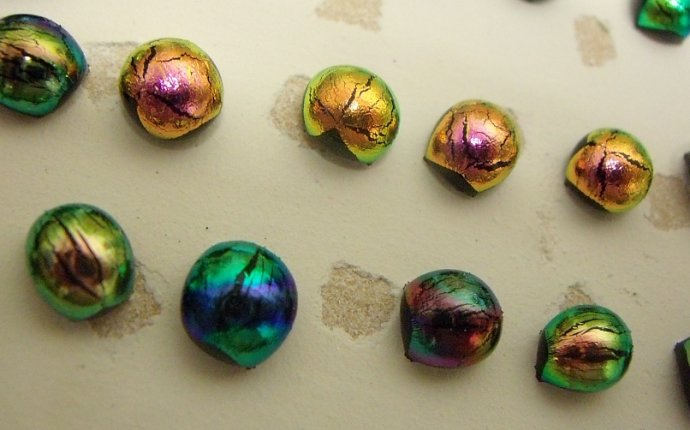 Dichroic Glass Earrings Studs - Earrings Collection