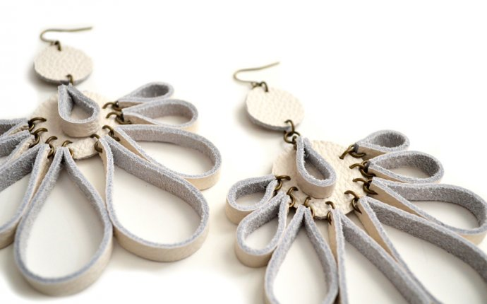 Handmade Leather Earrings — Boo and Boo Factory - Handmade