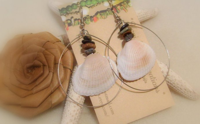Handmade Shell Earrings by HoniHoniCreations on DeviantArt
