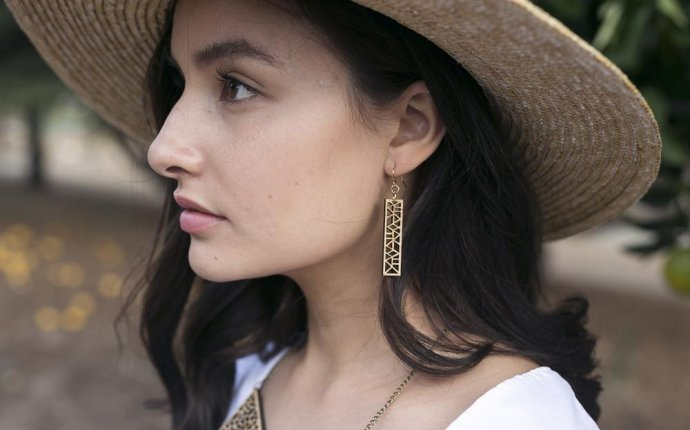 Laser cut drop earrings - Australian made ethical earrings by One