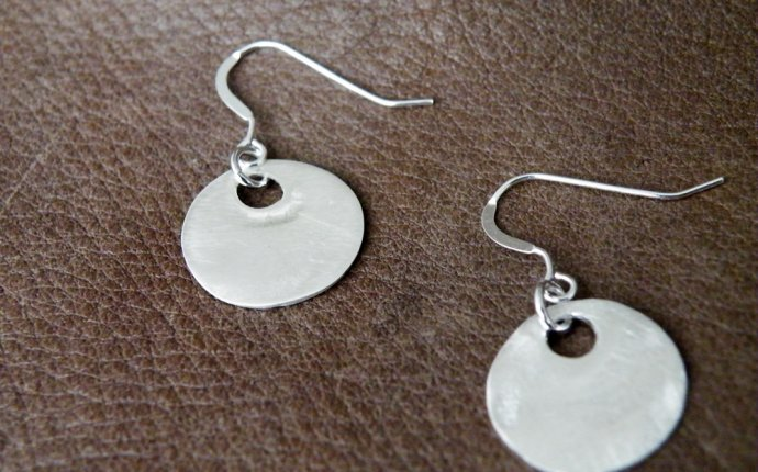Sterling Silver Disc Earrings | TrendEarrings