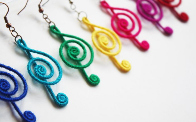 Treble Clef Earrings Music Note Earrings Musical Earrings