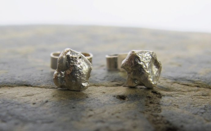 Handmade silver stud earrings