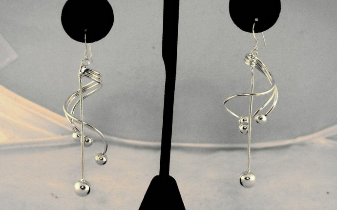 Unusual Sterling silver earrings