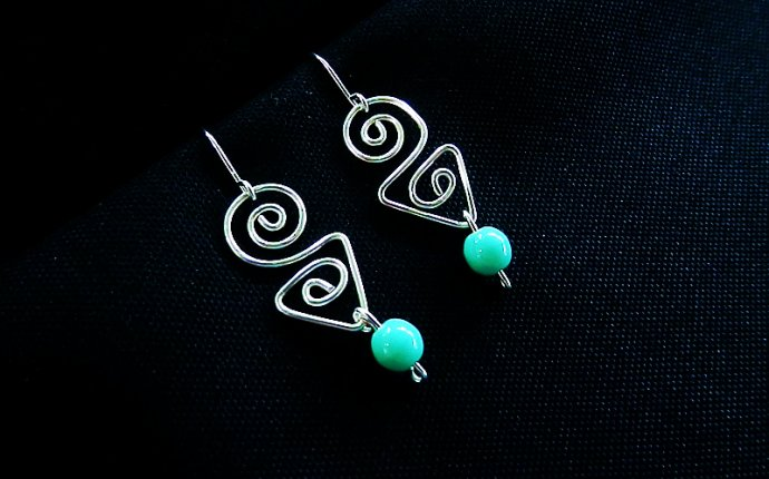 Handcrafted silver earrings